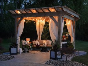 outdoor gazebo with lights